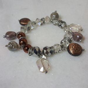 Chico's Copper & Silver Charm Bracelet